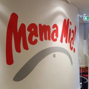 Väggdekor till Mama Mia.